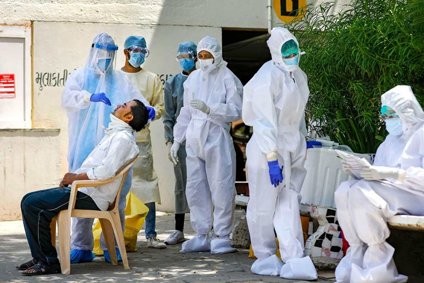 भारतमा कोरोना भाइरस संक्रमितको संख्या ९३ लाख नाघ्यो